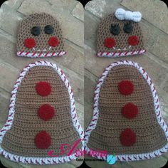 Gingerbread Girl or Boy Baby Cape Set