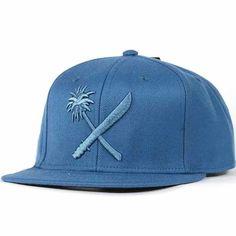Us Versus Them Crosscut Snapback Hat (Navy) $24.95