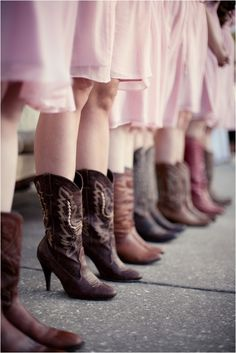 Bridesmaids in Boots!