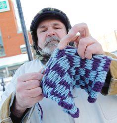 checkerboardphentex slipper, slipper man, knitted slippers