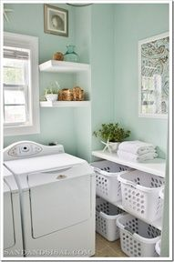 Laundry Room Makeover! If we have to do laundry, then we deserve a pretty laundry room!