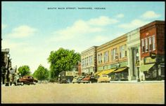 South Main Street, Nappanee, Indiana Postcard