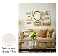 one of our favorite paint colors, Benjamin Moore Glacier White