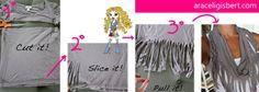 Estrena FOULARD gracias a tu vieja camiseta - Ideas para RECICLAR tu armario - Moda 2013