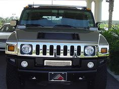 2003 09 Hummer H2 Chrome Laminate Front Lower Grill Overlay
