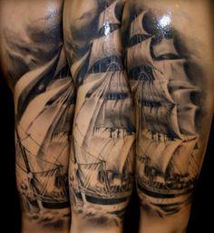 A tattoo by Giuliano Cascella