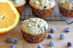 Blueberry Orange Oatmeal Muffins