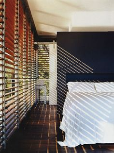 bedroom wth shades & shadows