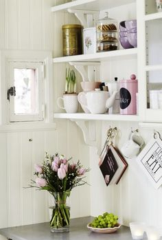 Kitchen storage and Romantic design #decor