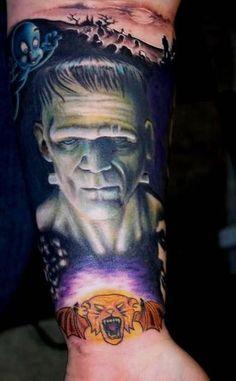 #InkedMag #tattoo of the day #ink #tattoos #tattooed #art #color #horror #classic