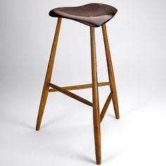 Wharton Esherick (1887 - 1970) sculpted stool