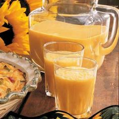 Frosty Orange Drink:  4 servings; One serving (prepared with fat-free milk, sugar-free orange breakfast drink and sugar substitute equivalent to 1/2 cup sugar) equals 77 calories, trace fat; Diabetic Exchanges: 1/2 fruit, 1/2 fat-free milk