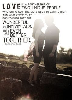 Quotes+About+Incredible+People   Wonderful Quotes On Amazing Love Is A Partnership Of Two Unique People ...