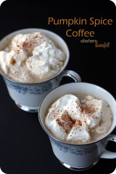 Need a warm after dinner coffee? Try this pumpkin spice coffee to enjoy. Make by the mug, or for a crowd. from #dietersdownfall.com