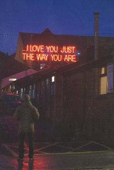 I love you just the way you are neon lights
