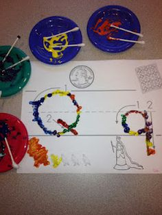 ~ Adventures in Tutoring & Special Education ~: Fine Motor Skills-Targeting a line by painting with q-tips