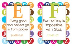 Love the idea of learning the alphabet and scripture at the same time!