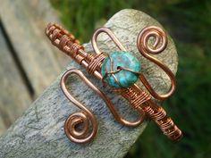 copper snake, cuff bracelet, turquoise, spiralcraft cuff, gifts