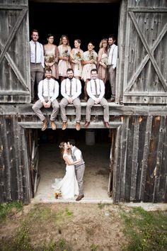 Amazing Wedding Party Picture - Wedding Photography to Inspire wedding parties, idea, wedding photography, country weddings, barn weddings, bridal parti, the bride, wedding photos, wedding pictures