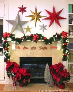 Christmas mantel wit