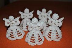 crochet ornaments, angel ornaments, crochet angels