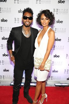 Miguel arrives at Hyde Bellagio Las Vegas on Aug 30, 2014