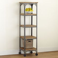 Aiden Etagere from world Market. Great storage with industrial chic style with wheels