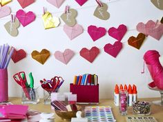 Set the Scene in Host a Valentine's Day Card-Making Party from HGTV