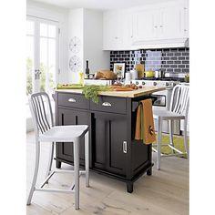 Belmont Black Kitchen Island in Dining  Kitchen Storage | Crate and Barrel