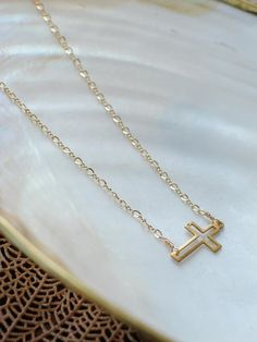 #Sideways #Cross #Necklace <3 #Love & #Want