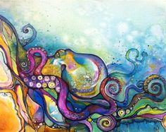 octopus, underwater