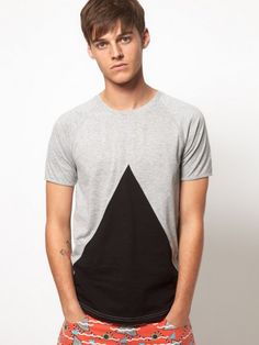 T-Shirt With Insert Triangle
