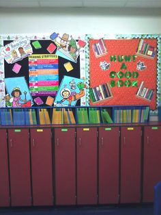 My big reading bulletin board!
