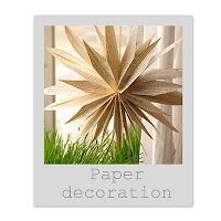 Instructions for rustic paper baby shower or party decorations made from paper bags..or colored craft paper if you choose.