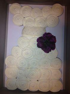 """""""Bridal Shower"""" cupcake cake"""
