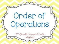 Order of Operations Lesson: I use this PowerPoint lesson to teach students about order of operations. It includes a review of expressions and equations, an introduction to PEMDAS with a variety of practice questions, and it also teaches students about PBBEMDAS (brackets and braces) in solving equations.