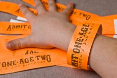Rock Star Party Admission Wrist Bands. No punch without a wrist band, kids.