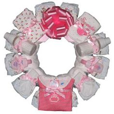 Super cute diaper wreath