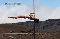 Pole Picture of the Day: Bad Kitty Brand Ambassador Doris Arnold fan page in a shoulder mount plange. Photography by @Anthony Nollet. #BadKittyPride   Submit your photos here: www.badkitty.com/submit