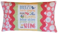 Pine Mountain Designs - Spring Typography Pillow Kit [PMD473] - $24.40 : Laurels Stitchery, The best little stitchery shop on the internet!