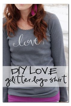 DIY Love Shirt using your Silhouette and a heat transfer how-to tutorial ~ Sugar Bee Crafts