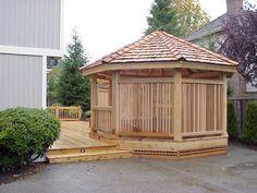 Gazebo's! decks, garages, cedar pergola, landscap idea, deck design, deck idea, garden idea, rooftop deck, design idea