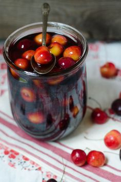 brandied cherries - preserving cherries for the winter ahead