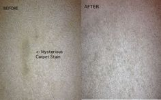 carpet cleaning with an iron