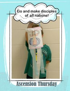 Free Ascension windsock craft from Charlotte's Clips