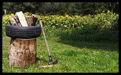 Good idea for splitting firewood.