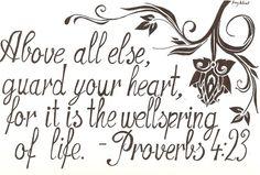 ..Proverbs 4:23