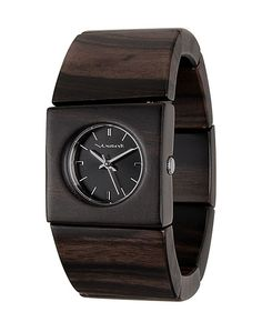 Vestal Watches Official Store, ROSEWOOD SLIM, burnt ebony black real wood, Womens : Watches, 1036