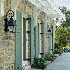 traditional design, color, garage doors, shutter, front doors, hous, ranch style homes, pergola, trelli