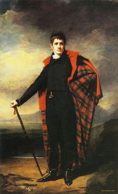 Portrait Oil Painting Man With Kilt